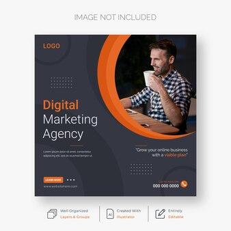 Digital marketing corporate and social media post template