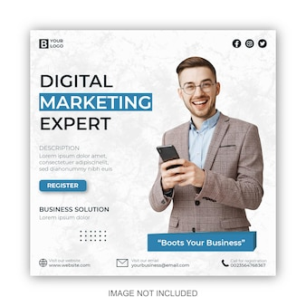 Digital marketing and corporate social media post and web banner design template
