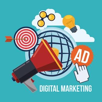 Digital marketing design.