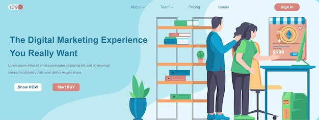 The digital marketing experience you really want web banner