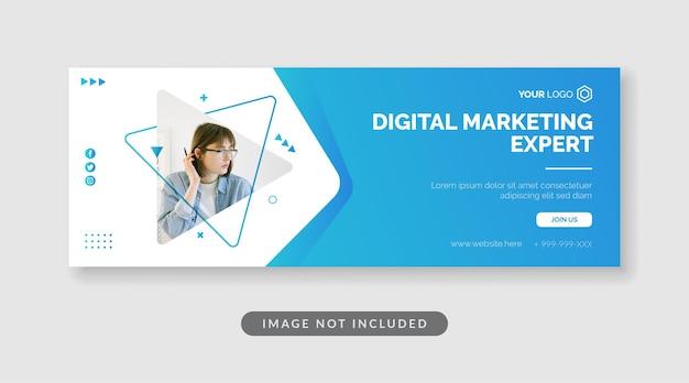 Digital marketing expert banner template