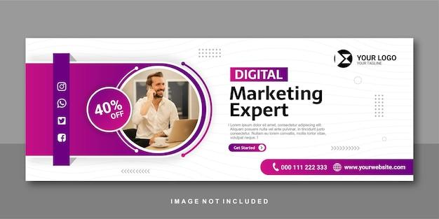 Digital marketing expert facebook banner   design