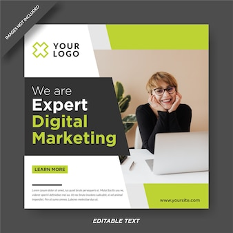 Шаблон дизайна instagram эксперта по цифровому маркетингу