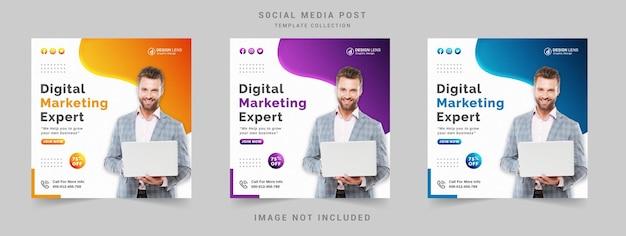 Сообщение эксперта по цифровому маркетингу в социальных сетях