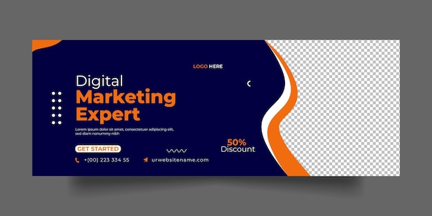 Digital marketing facebook cover page
