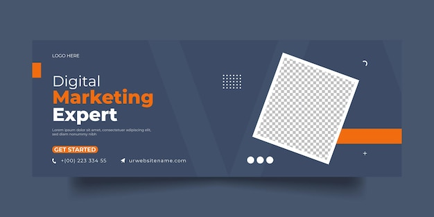 Digital marketing facebook cover social media post and banner template