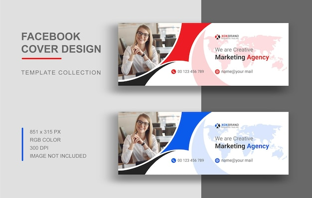 Digital marketing facebook cover template design