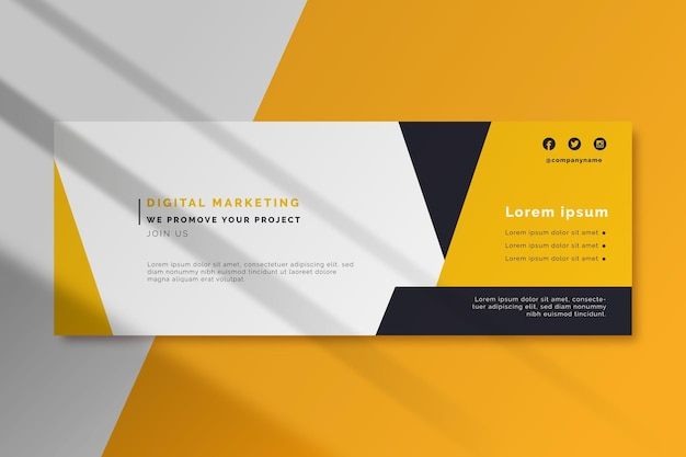 Digital marketing facebook cover template