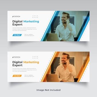 Digital marketing facebook cover template