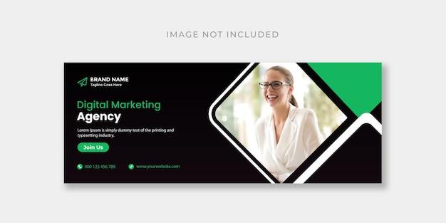 Digital marketing facebook cover or web banner design template
