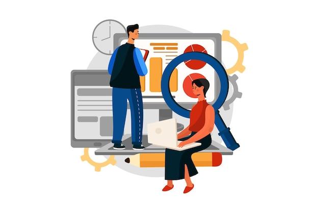デジタルマーケティングイラストの概念