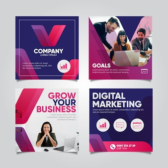 Digital marketing instagram post collection