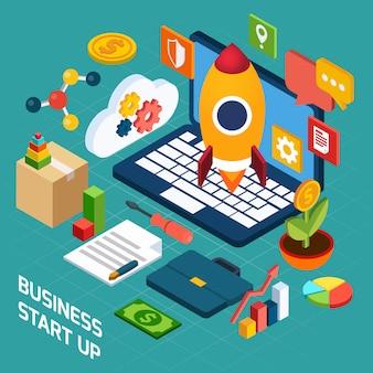 Concetto isometrico di marketing digitale