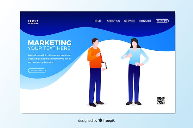 Digital marketing landing page template