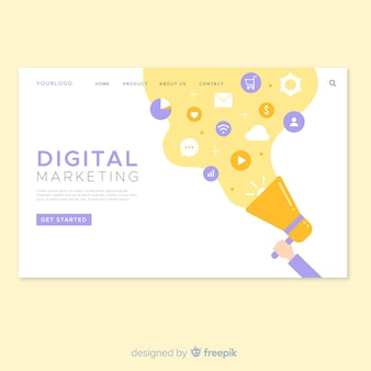 Digital marketing landing page web design