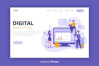 Целевая страница цифрового маркетинга