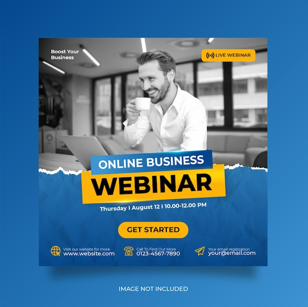 Веб-семинар по цифровому маркетингу и шаблон сообщения в корпоративных социальных сетях