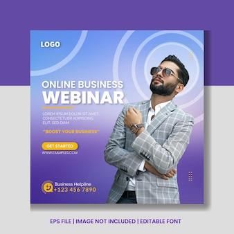 Digital marketing live webinar and corporate social media post banner template