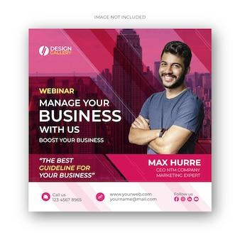 Digital marketing live webinar social media post banner design