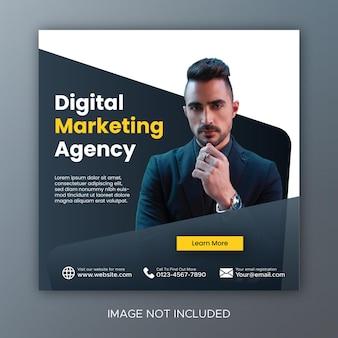 Digital marketing live webinar social media post template