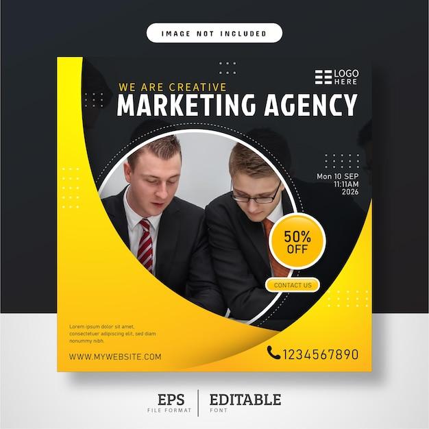 Digital marketing live webinars social media post template