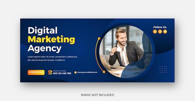 Digital marketing promotional agency facebook cover template design