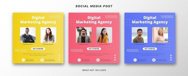 디지털 마케팅 소셜 미디어 배너 서식 파일