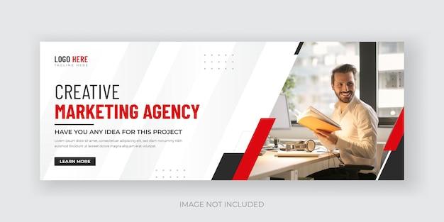Digital marketing social media cover banner design template