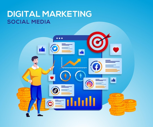 Digital marketing social media and data analysis