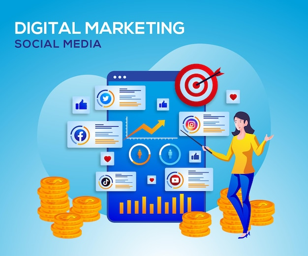 Digital marketing social media and data analysis