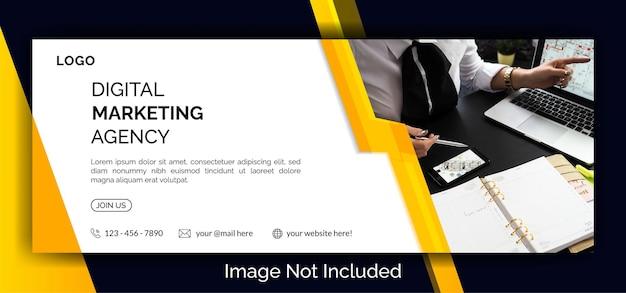 Digital marketing social media facebook cover banner template   premium vector