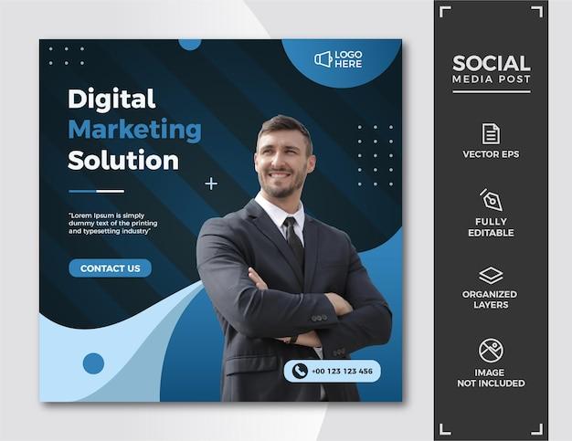 Шаблон сообщения в социальных сетях цифрового маркетинга.