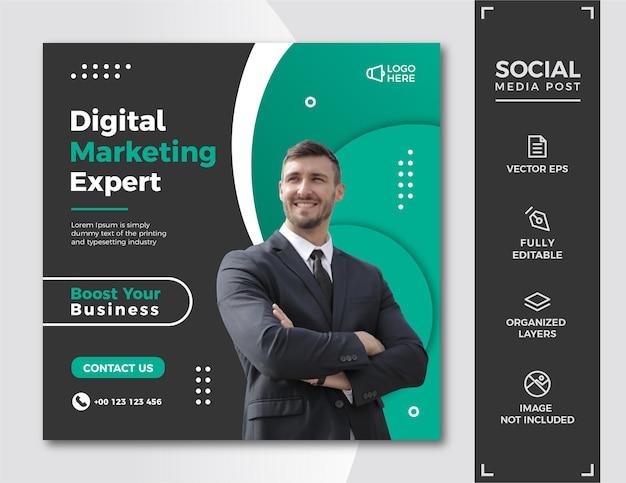 Digital marketing social media post template.