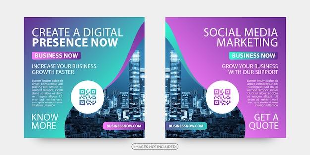 Digital marketing social media post templates