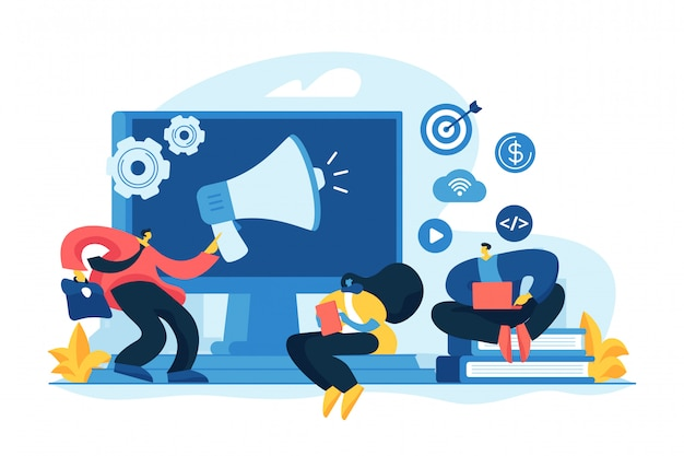 Digital marketing strategy concept vector illustration