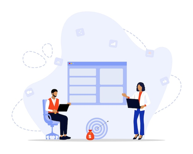 디지털 마케팅 전략 일러스트레이션