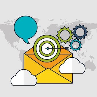 Digital marketing technology with envelope