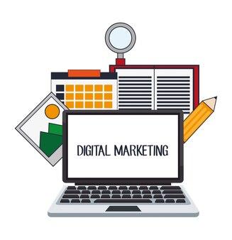 Digital marketing website internet design