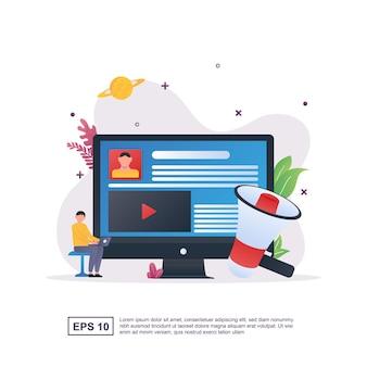 큰 확성기로 디지털 마케팅.