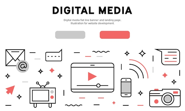 Digital media web infographic