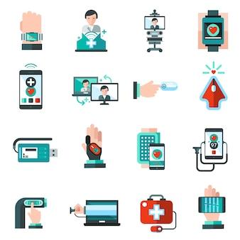 디지털 의학 아이콘