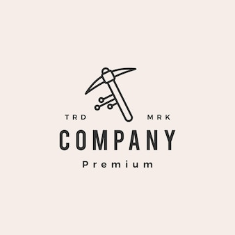 Digital mining hipster vintage logo