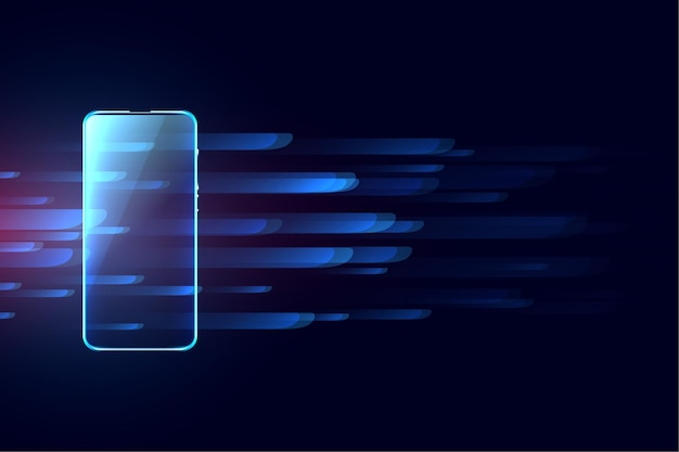 Digital mobile futuristic technology concept background