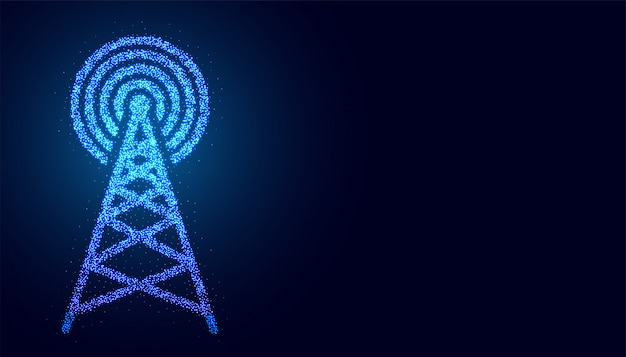 Digital mobile telecommunication tower network connection background