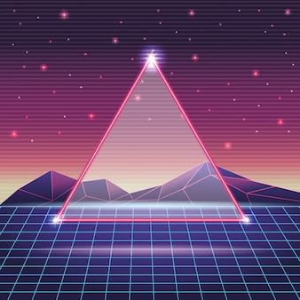 Digital mountain landscape