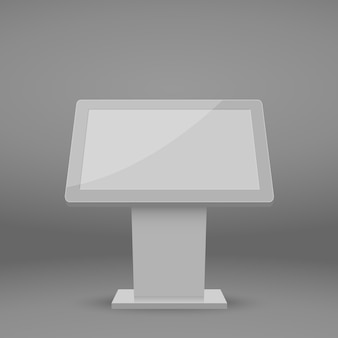 Digital multimedia stand template. Premium Vector
