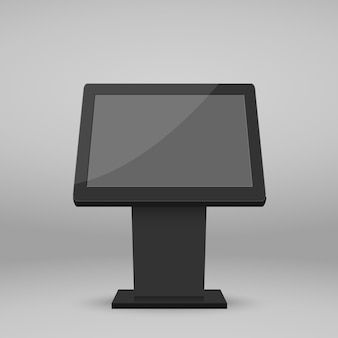 Digital multimedia stand template.