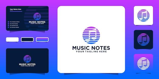 Вдохновение для дизайна логотипа цифровой музыки и вдохновения для визиток
