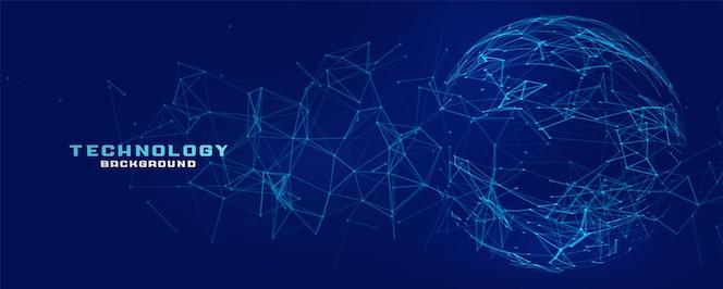 Цифровая сетевая сетка сфера технологии баннер