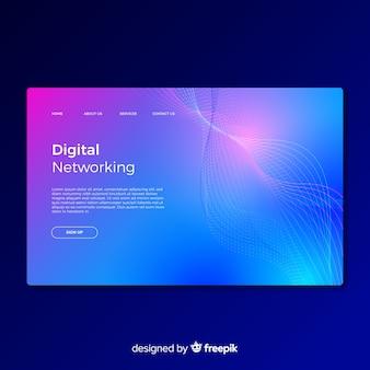 Digital networking landing page